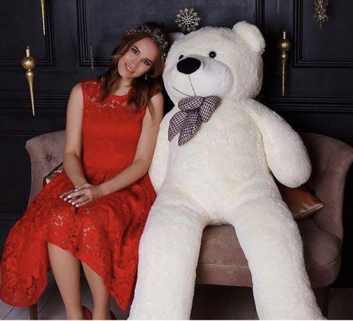 Большая белая медведь,подарок любимой девушке,мишка алматы доставка