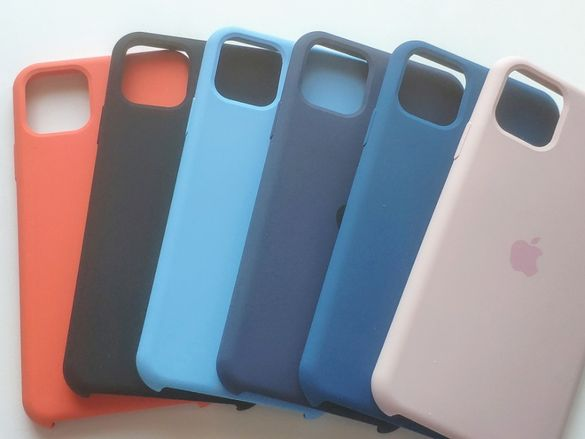 Silicone case (лого) за Apple iPhone 11 Pro Max