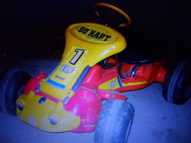 Cart electric si cu pedale pentru copii
