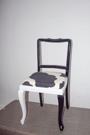 scaune arlechin alb-negru