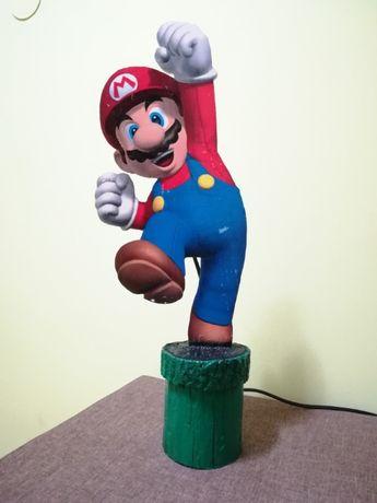 Veioza Mario (joc video) cu bec RGB cu telecomanda. HANDMADE