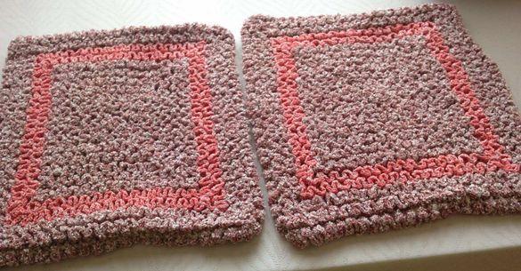 Плетени калъфки за възглавници – комплект