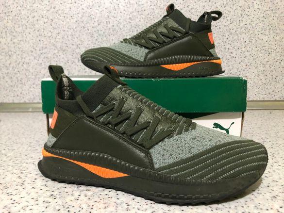 ОРИГИНАЛНИ *** Puma TSUGI Jun Jr / Deep Green Grey Orange