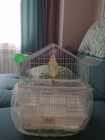 Клетка и все необходимое для попугая