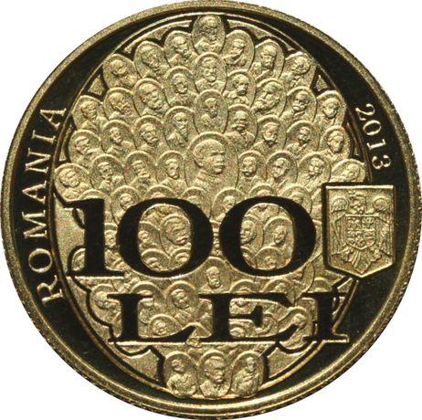 """Moneda aur tiraj 250 b. 150 ani de la constituirea Societăţii """"Junimea"""