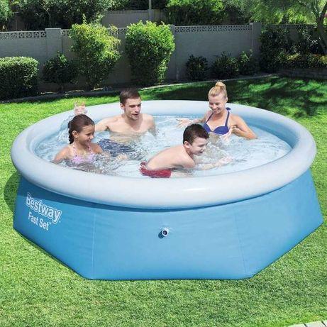 Надувной бассейн 244 см Bestway Fast Set 57265 Новый Детский