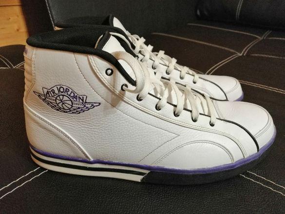 Nike Air Jordan Phly Legend MCMLXXVIII White Purple Trim Men's SZ 47.5