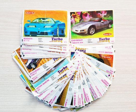 Картинки от дъвки Turbo Super, Турбо супер пълен лот 70 бр.(470-540)