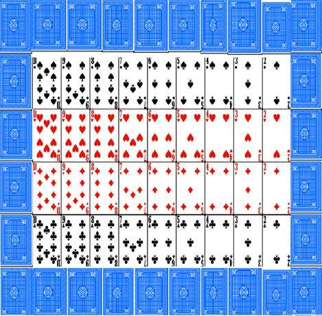 Азиатска Рядка колода с карти 52 броя с 2 джокера