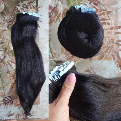 Естествена коса на стикери! 100гр. 40бр.