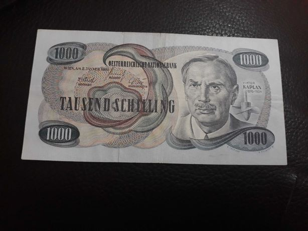 Bancnota 1000 schilling 1961 !!