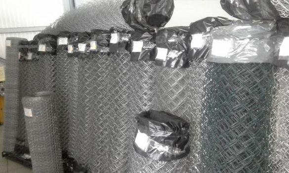 Плетена оградна мрежа a-80х80mm d-ф1.8mm H1.50m L10m