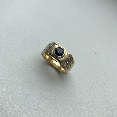 Кольцо с бриллиантами, золото 750 советское