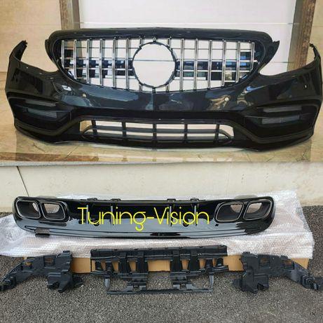 W205 C205 S205 A205 Facelift C63AMG Mercedes броня, дифузьор, решетка