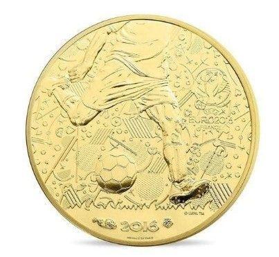 Златна и сребърна монети УЕФА ЕВРО 2016 - 100 И 10 ЕВРО