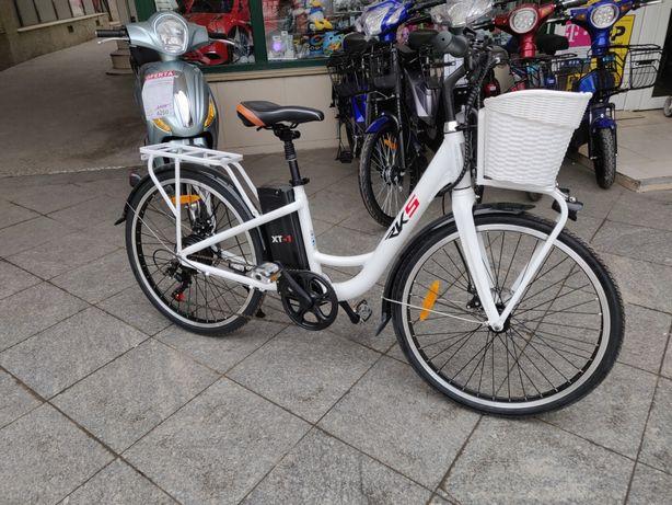 Bicicleta Electrica Deluxe XT1, Motor 250W, Autonomie 50 km, Cadru AL
