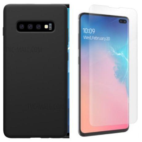 Samsung S10e S10 S10+ S10+ 5G Pachet Husa Silicon + Folie Silicon