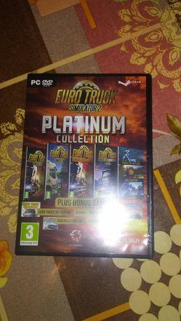 Vând joc Euro truck simulator 2 platinum collection pentru pc