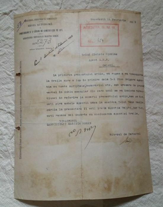 Ordin serviciul maritim Bucuresti - imagine 1