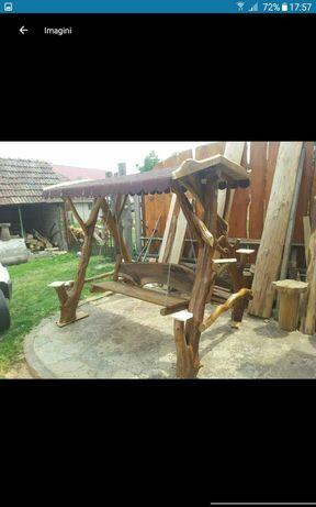 Balansoar din lemn rustic