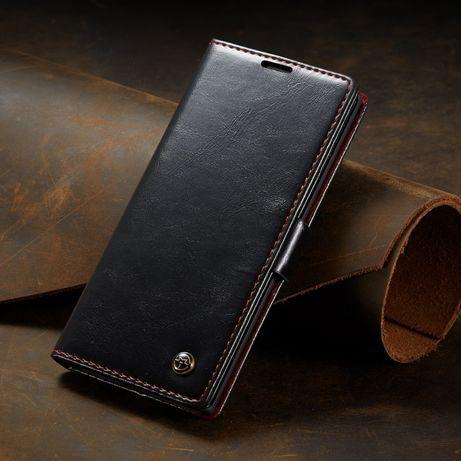 Husa Samsung Note 10 Plus, piele fina CaseMe,carte inchidere magnetica