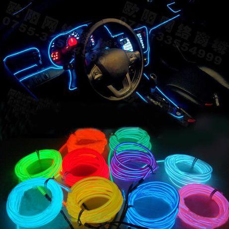 Амбиетно лед осветление интериона LED лед лента за кола мотор камион