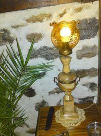 Продавам Барокова лампа с кафяв Оникс и бронз