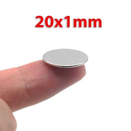 20x1mm неодимов МАГНИТ N52, magnit, neodimov, магнити, magniti