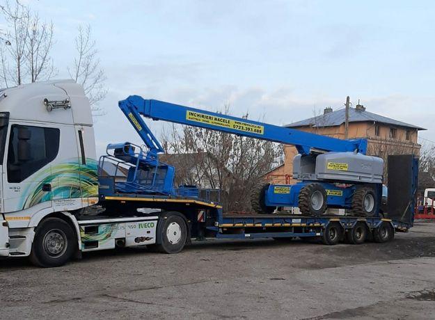 Transport utilaje trailer rampe hidraulice putem incarca orice