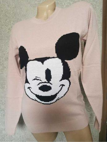 Pulover dama Mickey crem marime universala Turcia