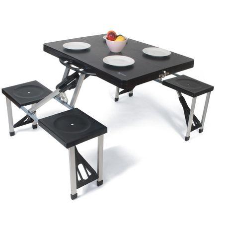 Комплект маса с 4 стола сгъваеми Kampa Happy Table