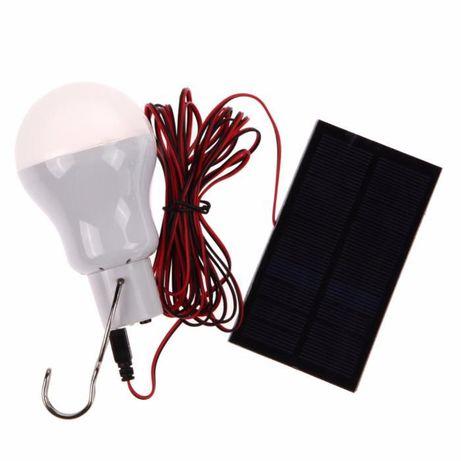 Лампа светодиодная с солнечной панелью,батареей