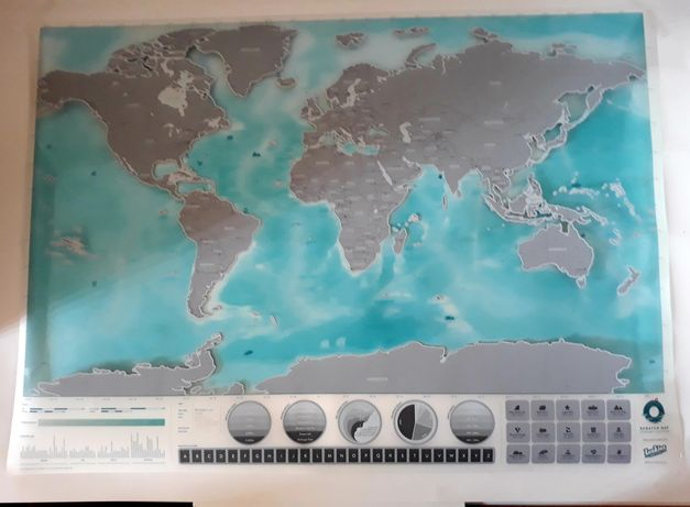 Harta lumii 82 × 60 noua glob  pamantesc