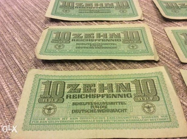 Bani/Bancnote nemțești folosite de armata Germana(raritate!)
