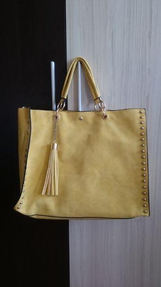 Жълта дамска чанта, двойна