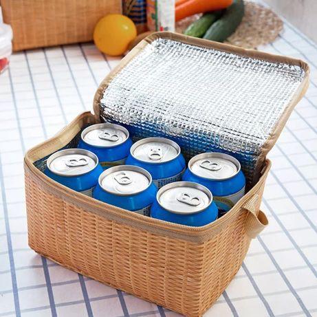 Термо сумка новая держит температуру на замке для еды пикника