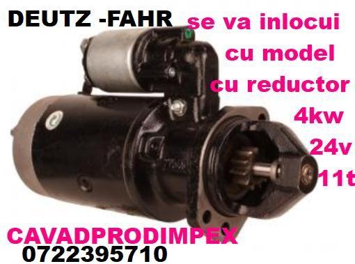Electromotor 4kw ptr echipare utilaje cu motoare DEUTZ -FAHR la 24v