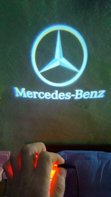 Emblema Logo LED Portiera dedicata mercedes