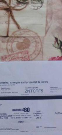 Vand 2 bilete Fiscoteca 80
