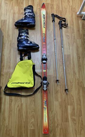 Продам лыжи Fischer комплект