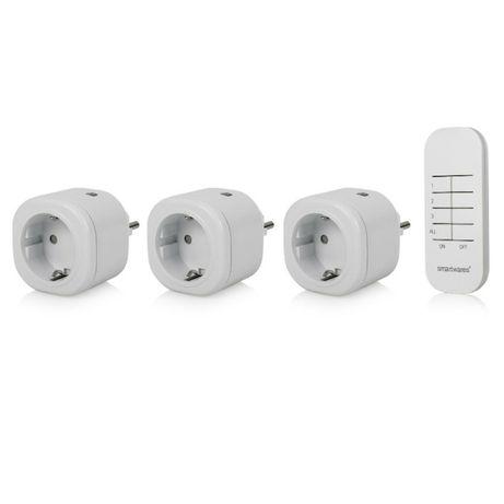 Комплект от 3 контакта с дистанционно управлениеSmartwares