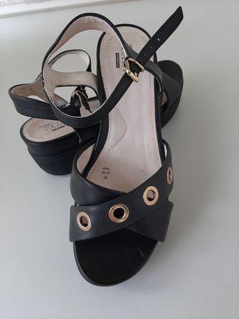 Sandale negre Stonefly piele naturala