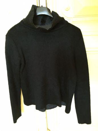 Pulover pufos negru Zara