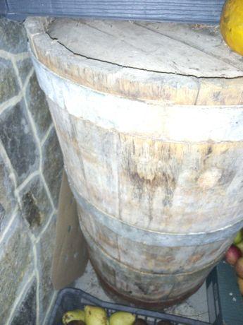 Дървена каца за декорация