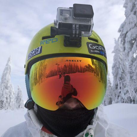 Cască snowboard RED