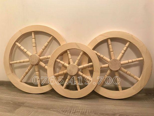 Roata lemn fantana - roti din lemn decorative