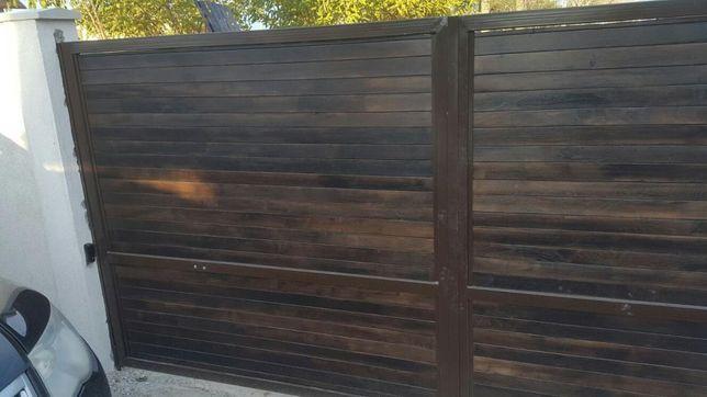 Porti din fier si lemn
