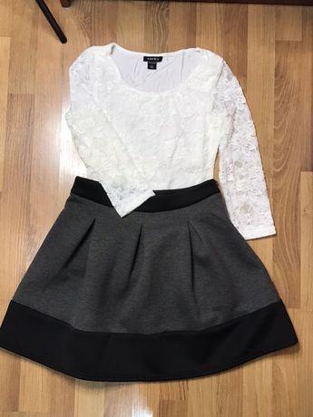 """Дамска пола/блуза дантелена - """"S"""" размер"""