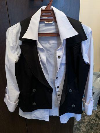 Дамска леко еластична риза с елек
