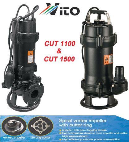 1100W Професионална помпа за изпомпване на силно замърсени води с нож